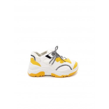 SNEAKERS BIANCHE/GIALLO