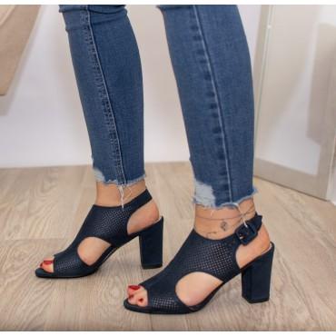 Sandali fascia traforata