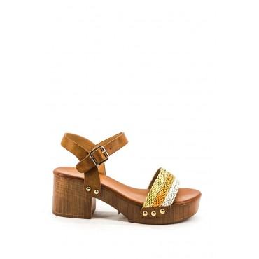 Sandali effetto legno