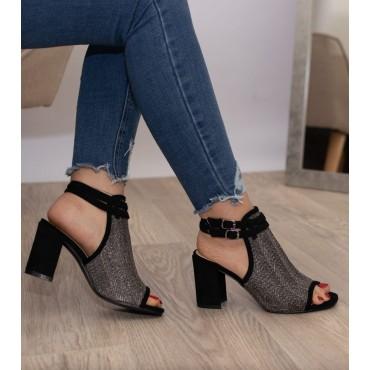 Sandali fascia nera o cuoio