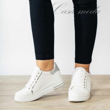 Sneakers bianche con rialzo
