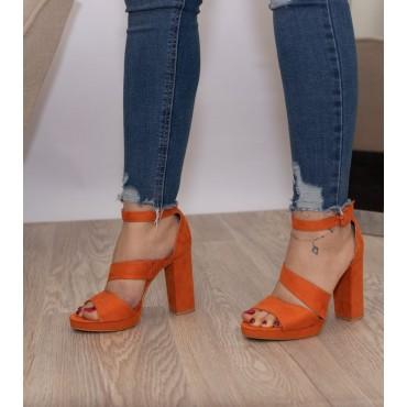Sandali arancioni 10 cm