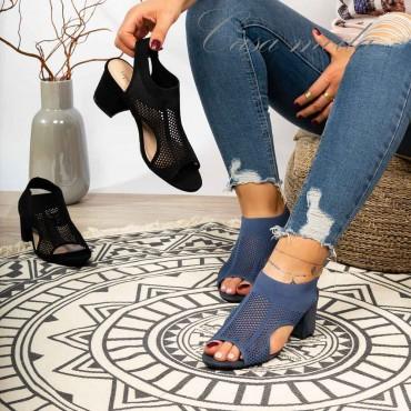 Sandali tacco scamosciati