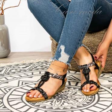 sandali gioielli zeppa 3 cm